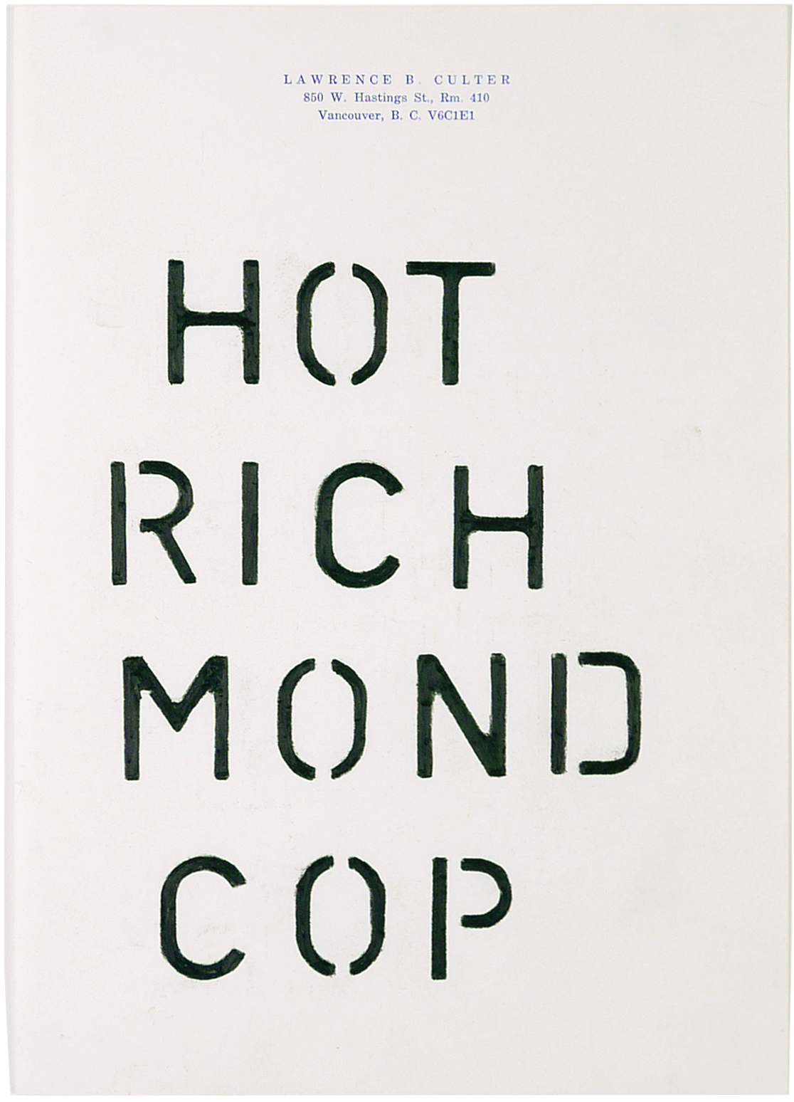 hot richmond cop  7.25 x 10.5 inches  pencil crayon on paper