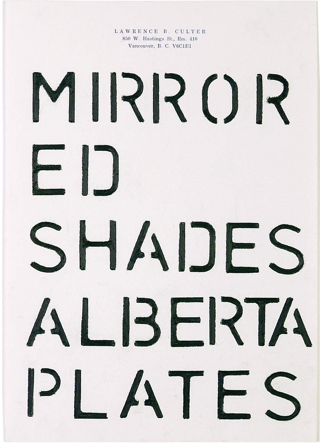 mirrored shades alberta plates  7.25 x 10.5 inches  pencil crayon on paper