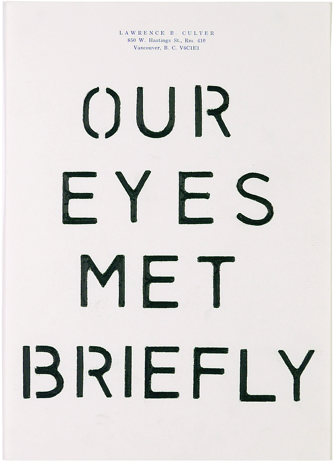 our eyes met briefly  7.25 x 10.5 inches  pencil crayon on paper
