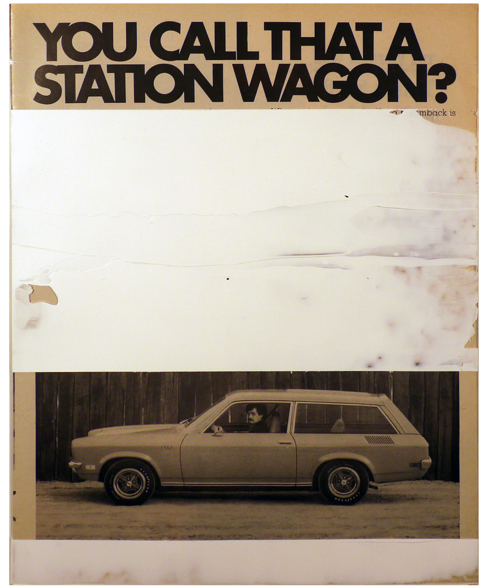 you call that a station wagon  10.25 x 13 inches  acrylic duralar paper