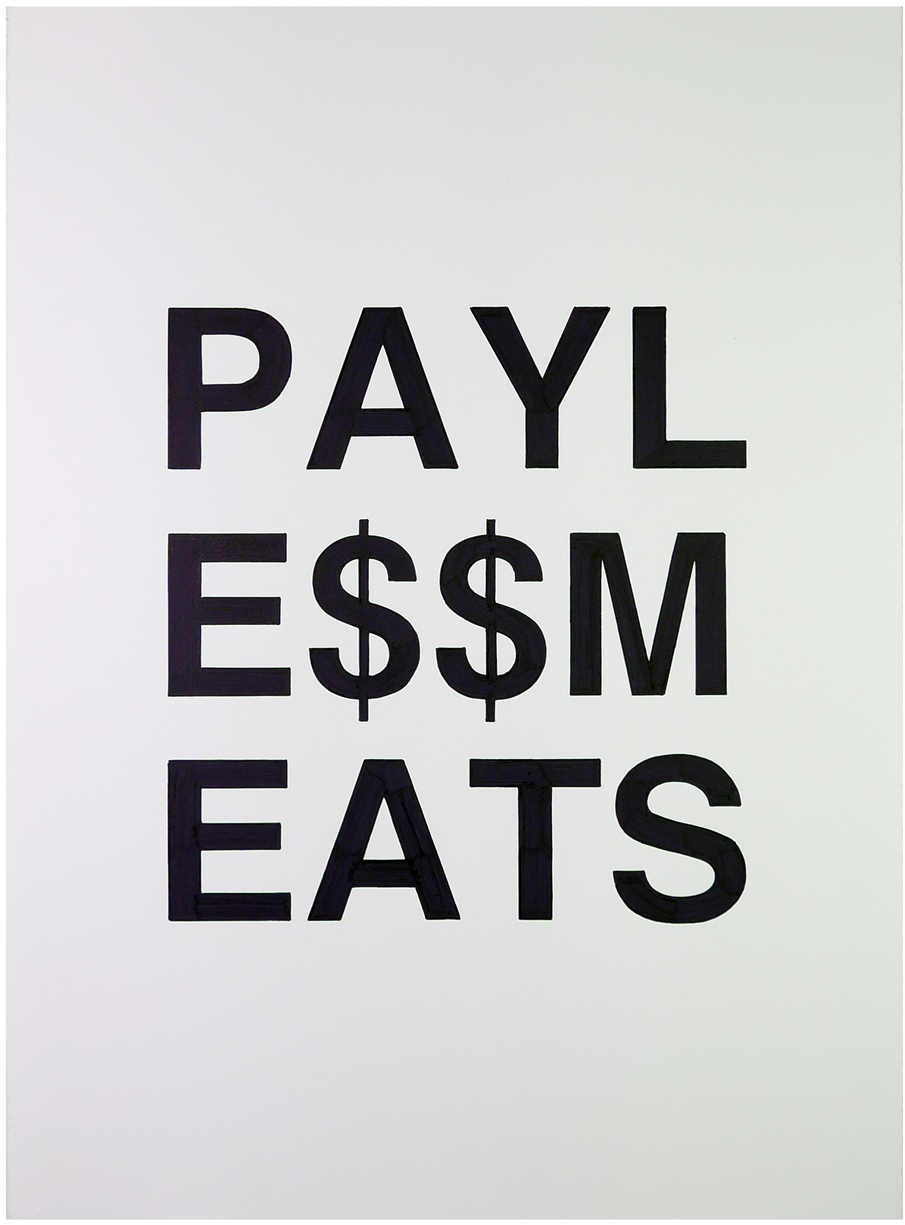 payless meats  22 x 30 inches  ink on paper