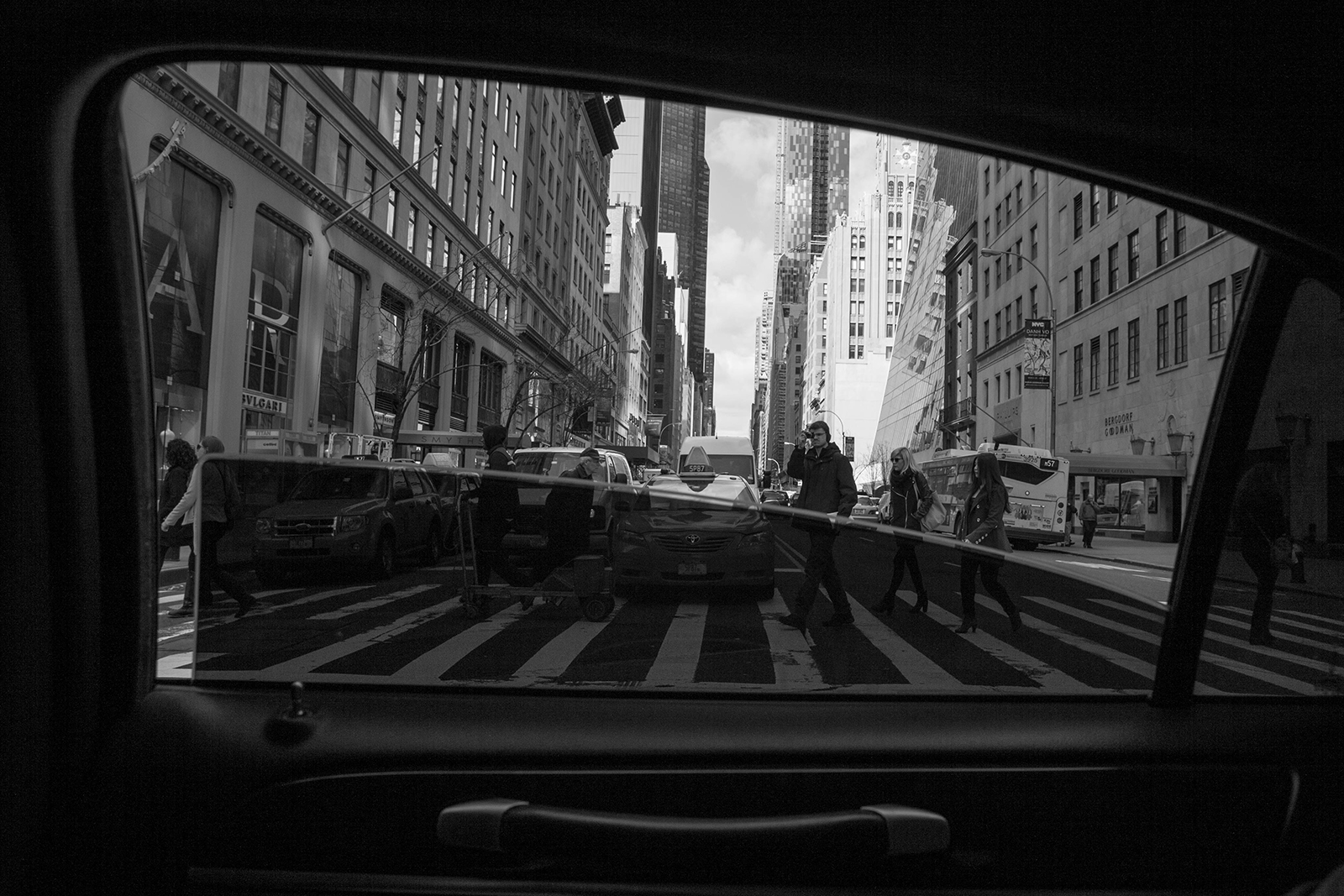View from our Limo in the financial district
