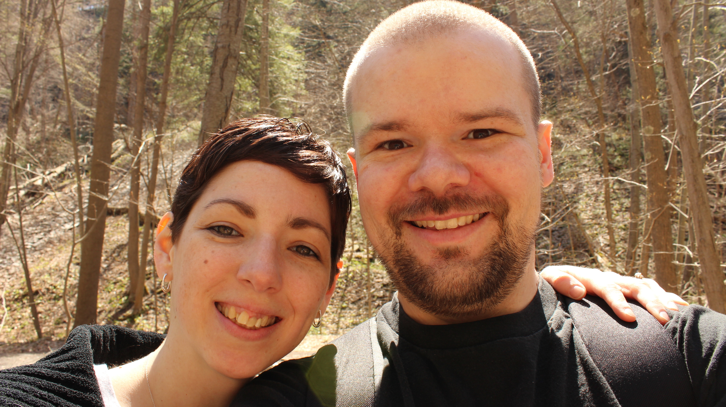 With my husband, Rich, in Ithaca, NY on our 11th wedding anniversary.