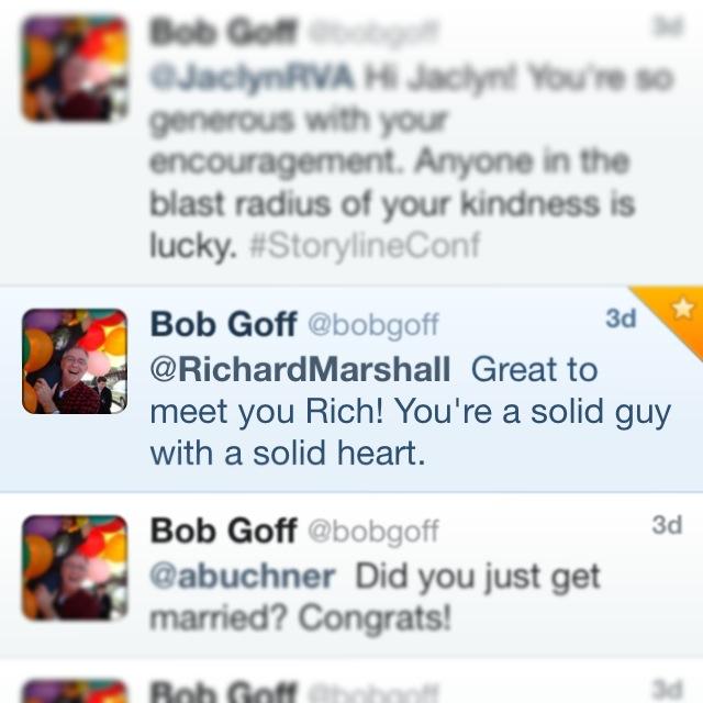 Rich's tweet from Bob Goff