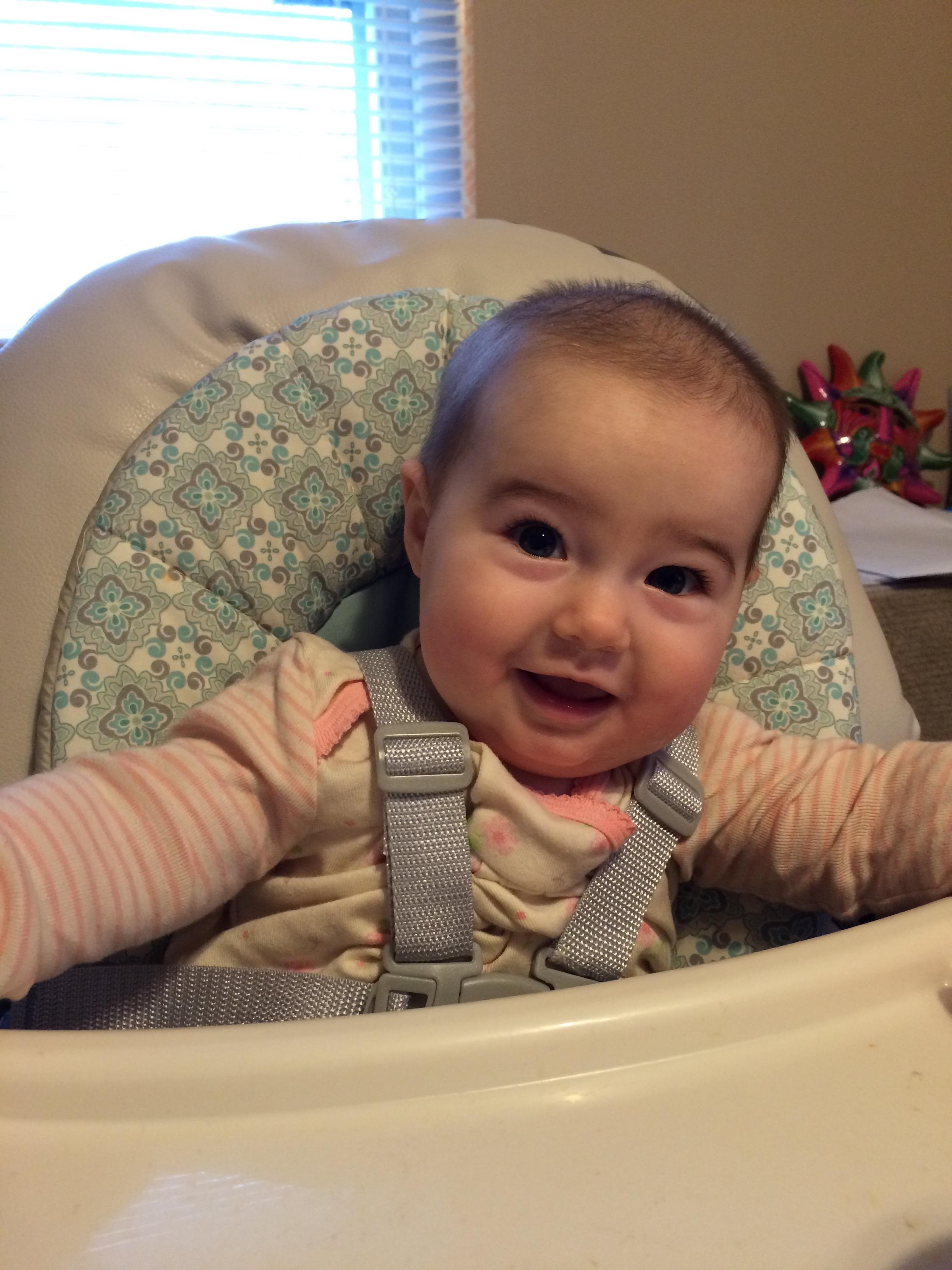 My happy baby girl