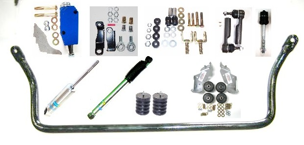 Quality components from 6 separate vendors creates a balanced suspension package