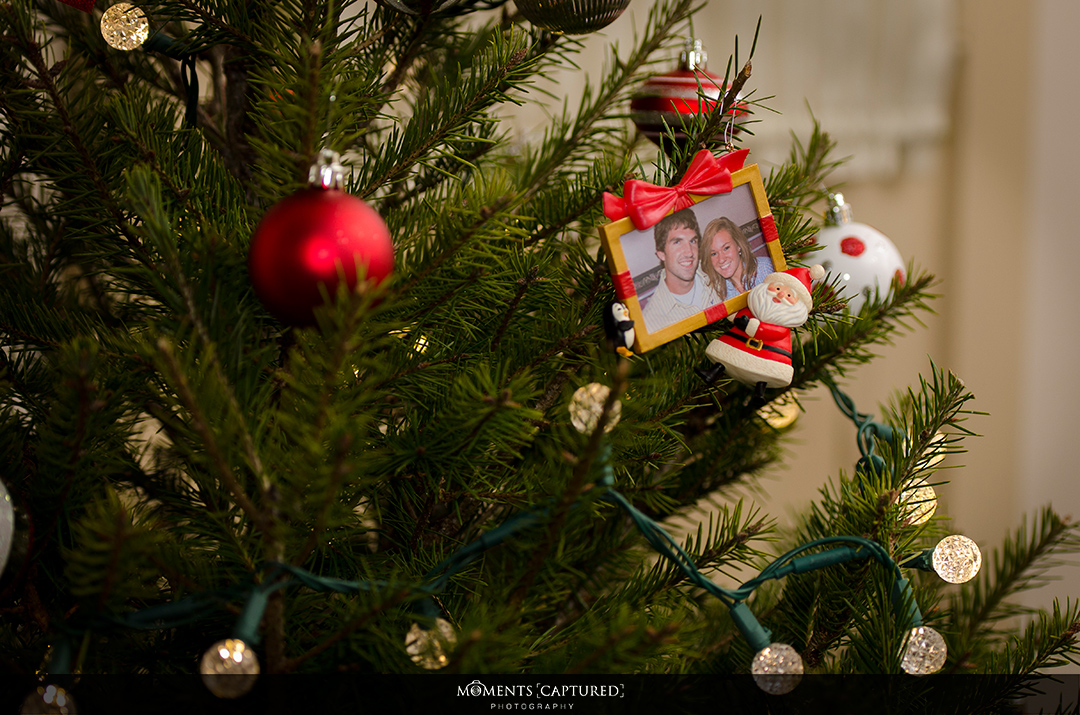 Our Ornament: Our first picture together