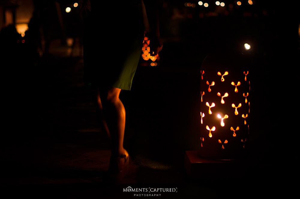 A warm glow at nighttime