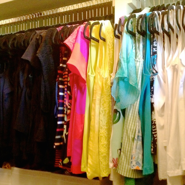 The closet after Calm Order using colour transition!