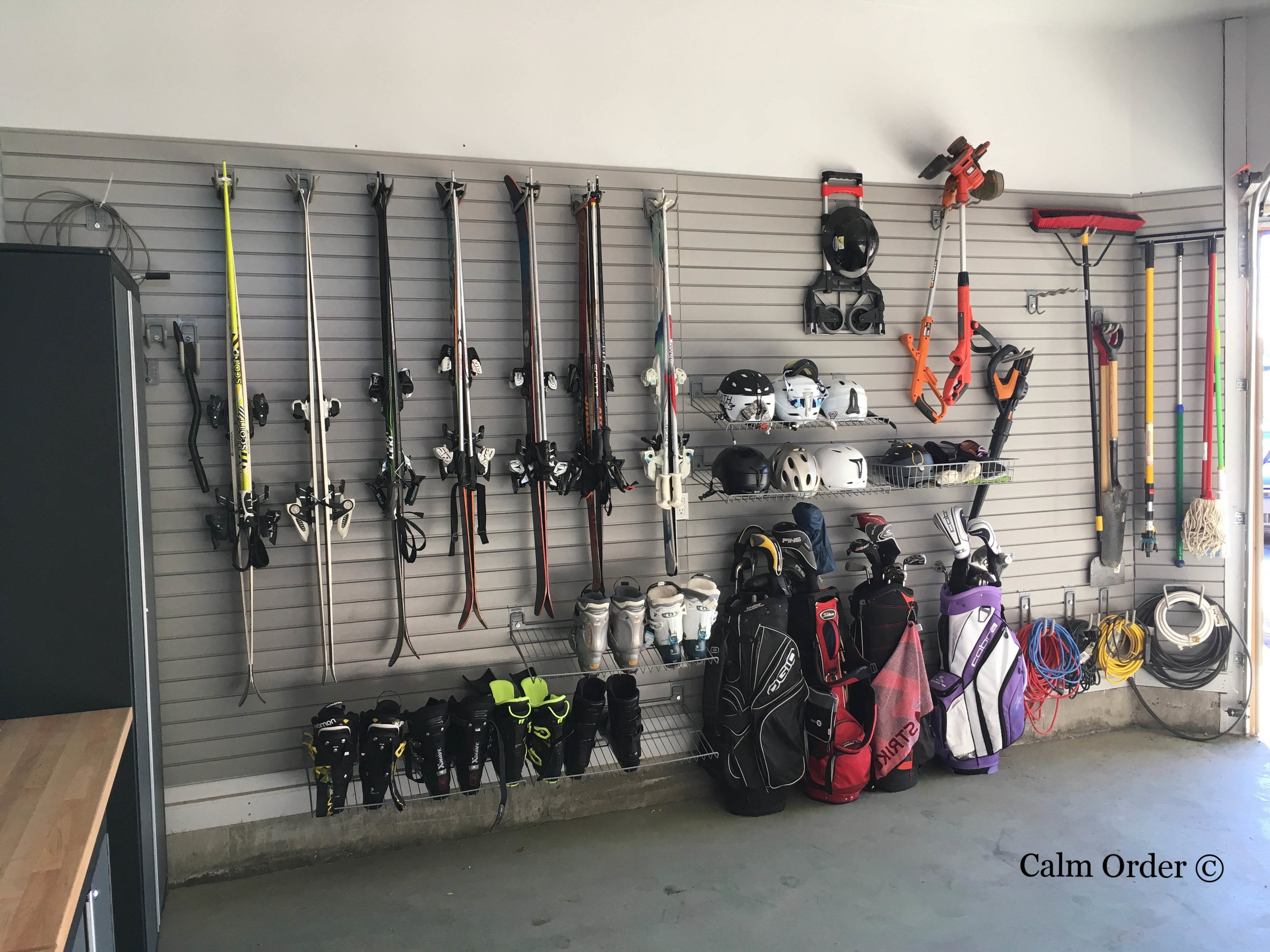 Calm Order- Sports wall Organizing