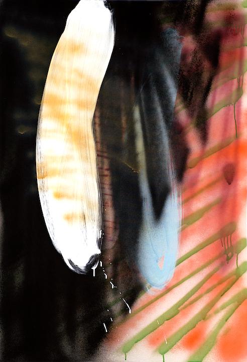 Frijol blanco sentado en un abanico, 2011