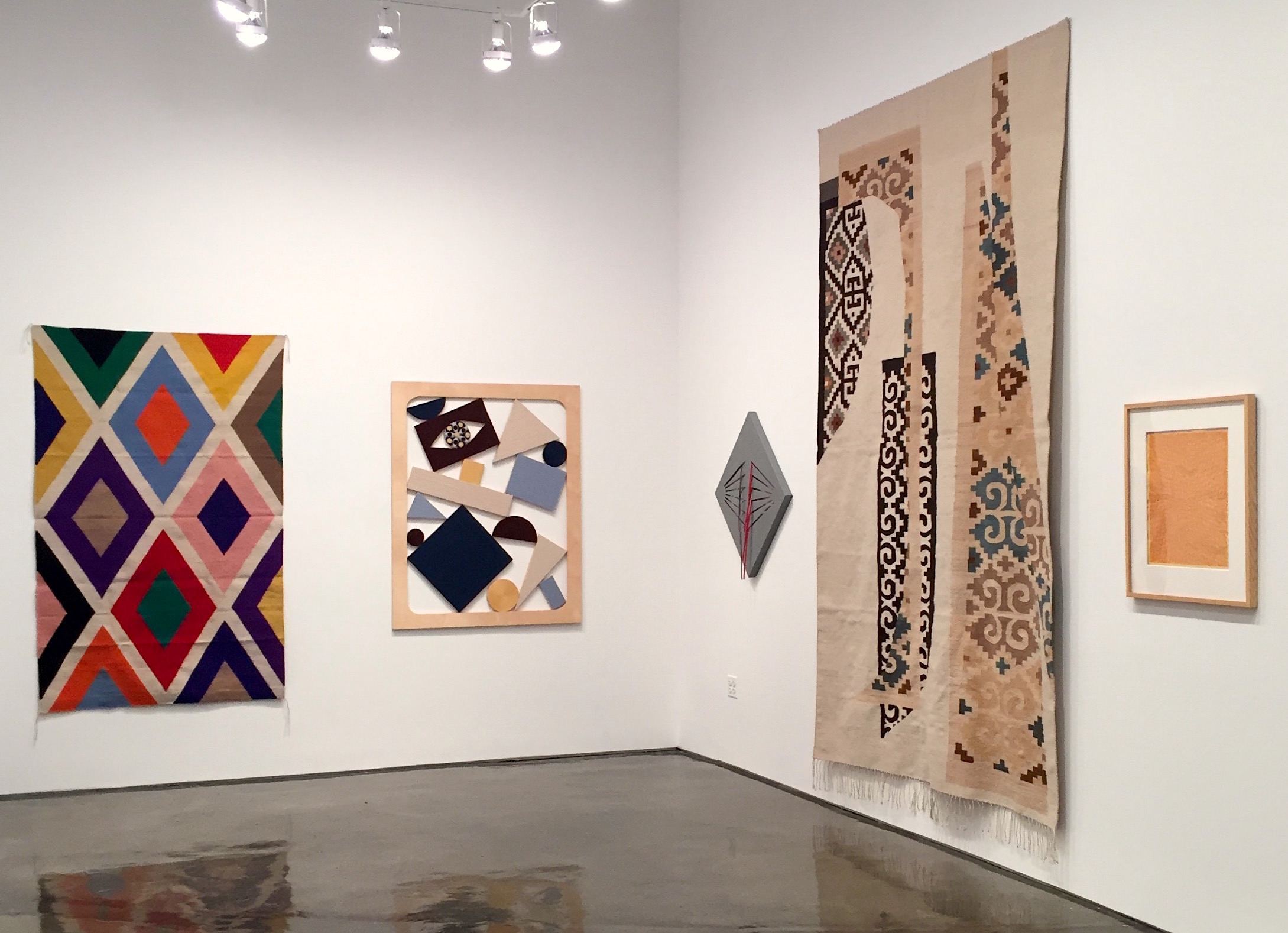 Installation view with Stephen Westfall, Chris Bogia, Linda King Ferguson, Emi Winter and Anni Albers.