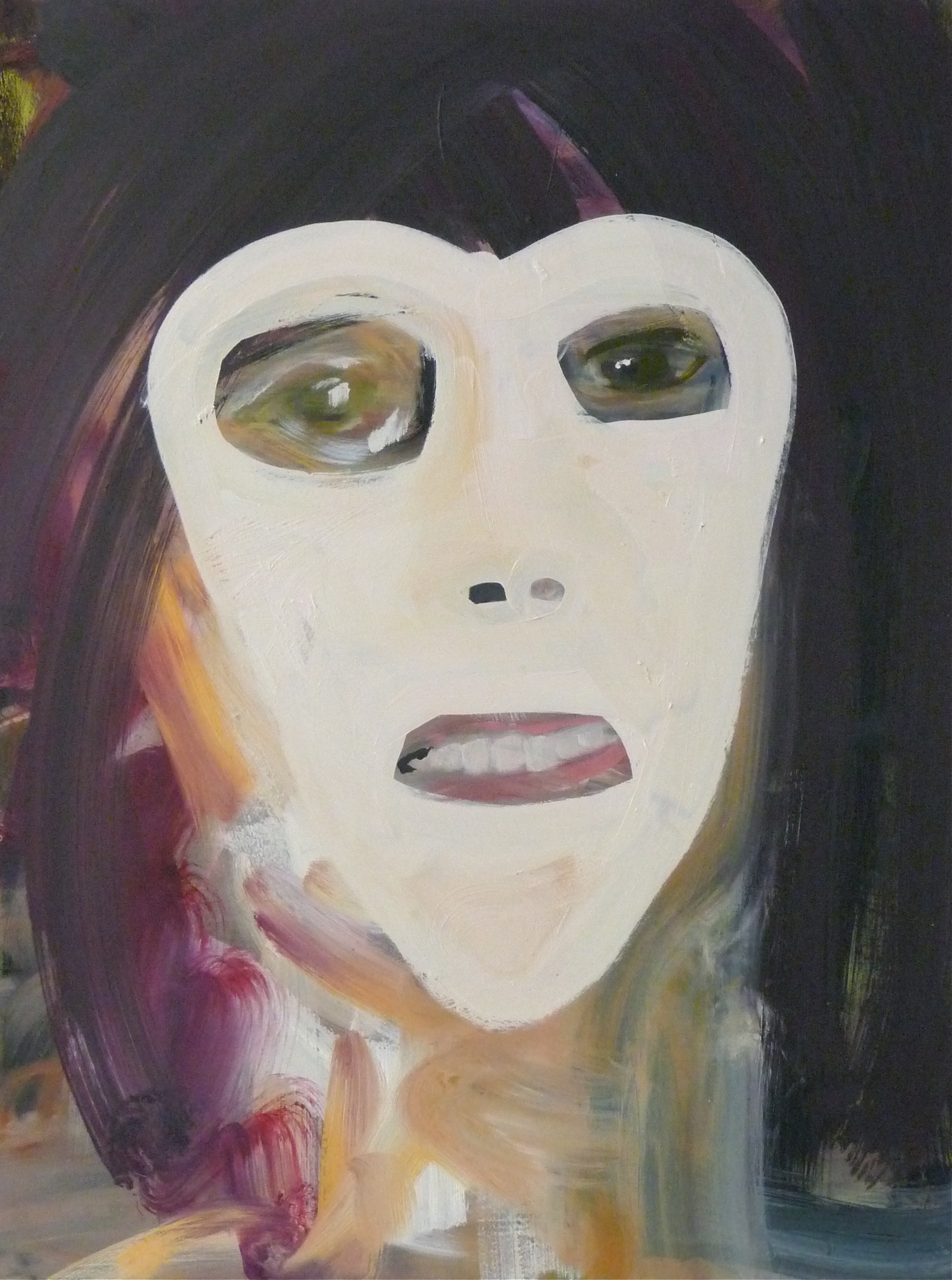 Self portrait with white mask, 2013