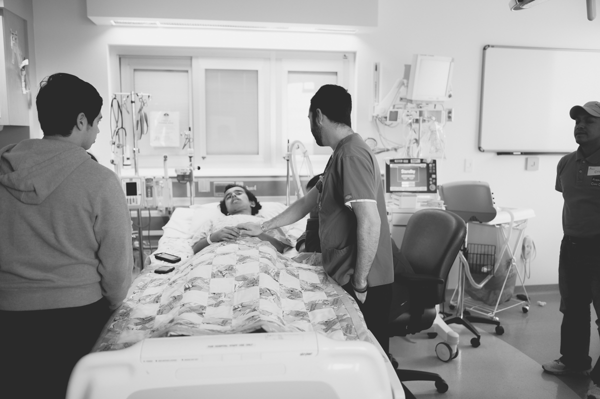 Nurse came by to pray for him