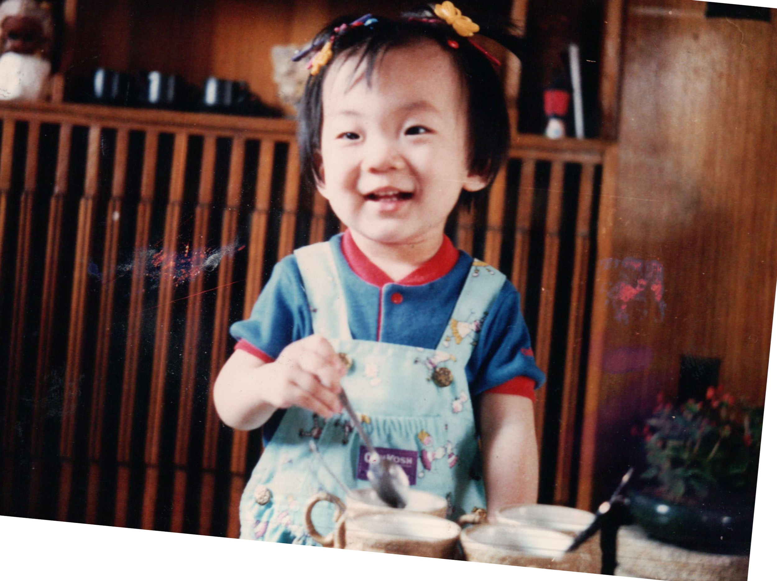 Pictured at age 2. I loved coffee way before I was allowed to drink it!