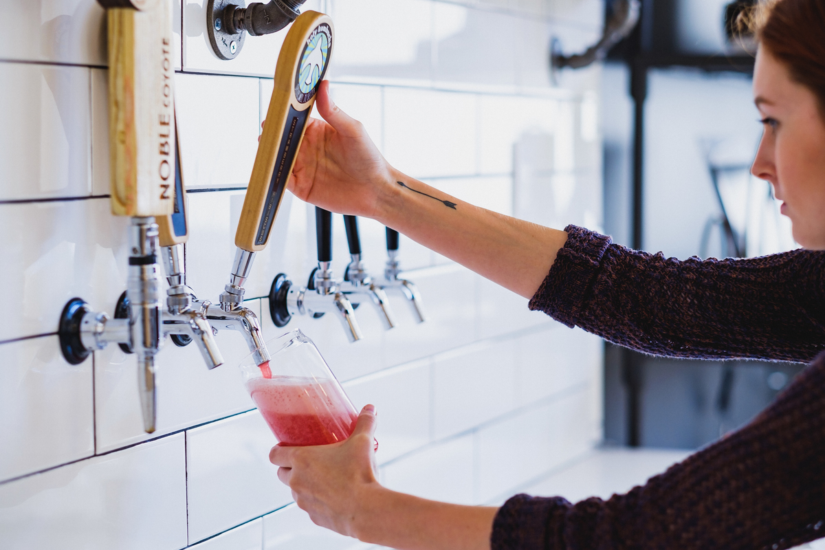 They also have Holy Kombucha on tap!