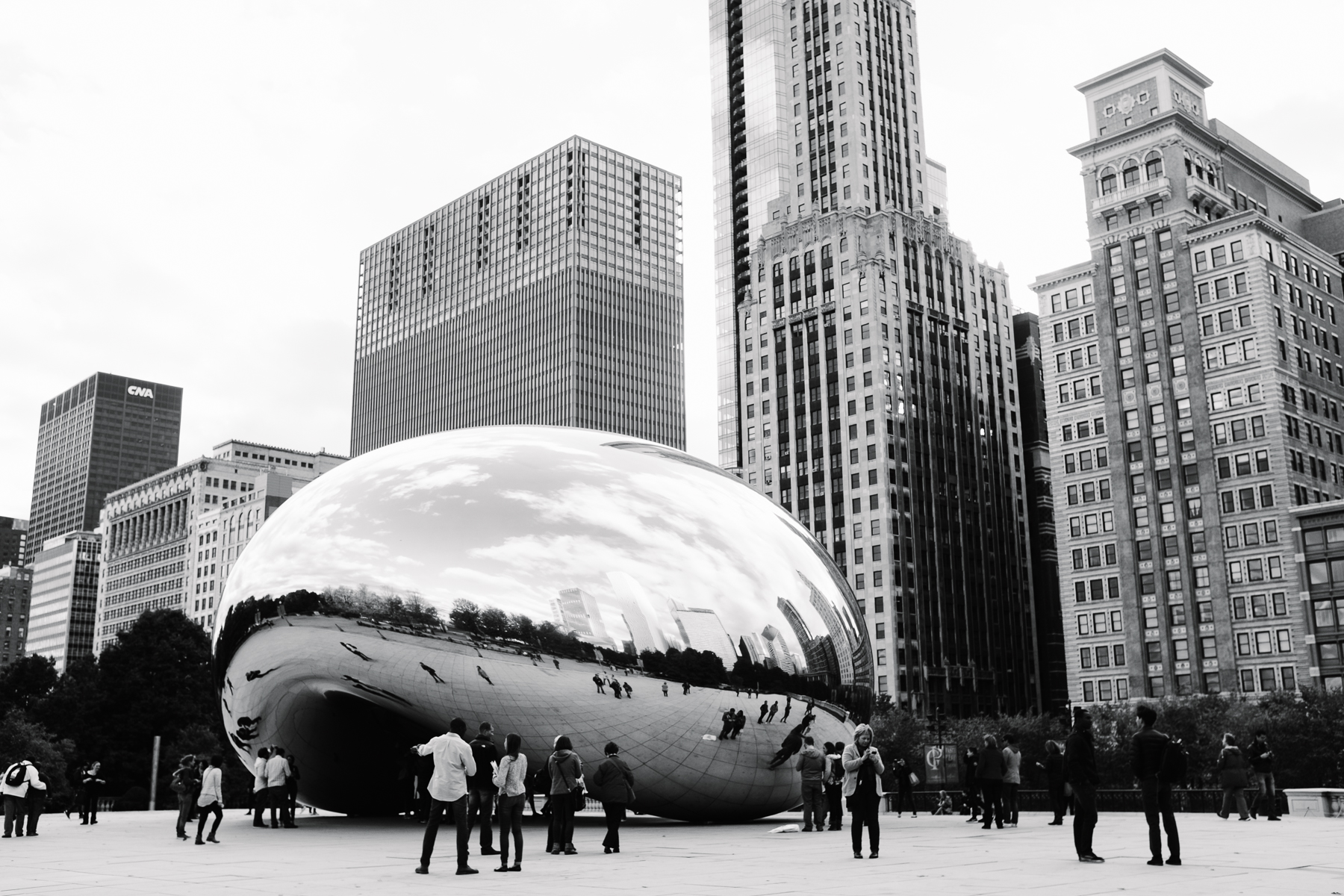 "The famous ""Bean"" in Millennium Park,  Cloud Gate , was one of our first stops."