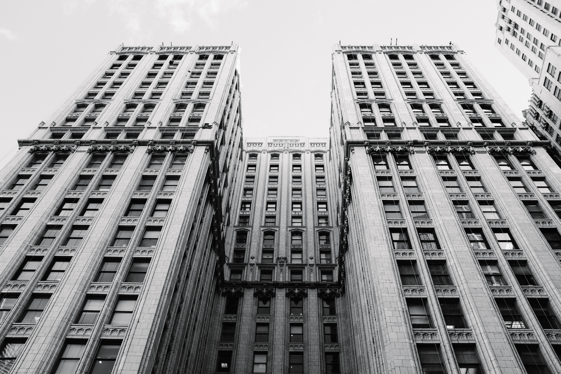The tall buildings command such presence in the city.