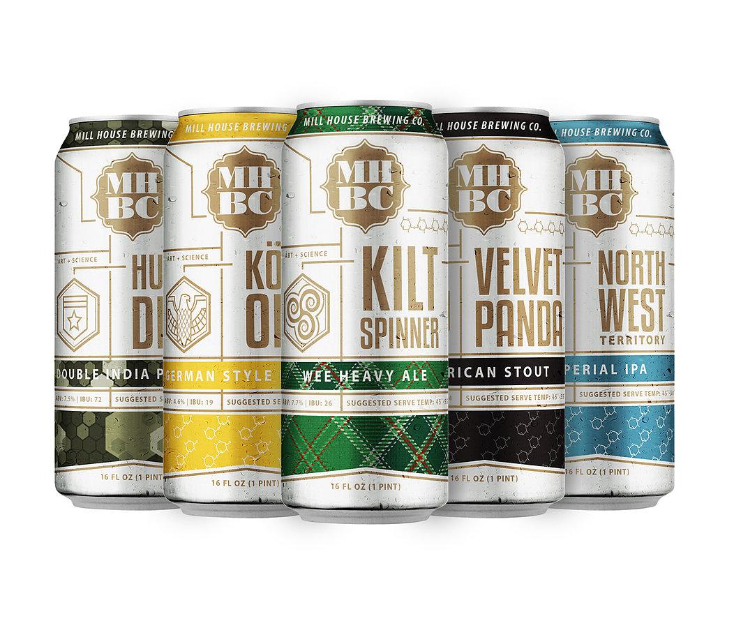 Craig Valentino Design - Mill House Brewing Company BRAND DESIGN