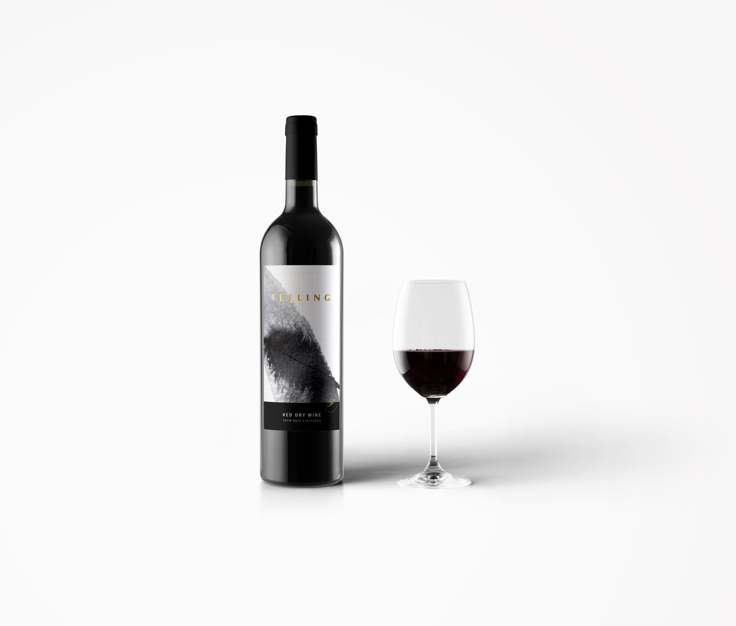 Label Packaging Design for Feeling White and Red Dry Wine / World Brand & Packaging Design Society