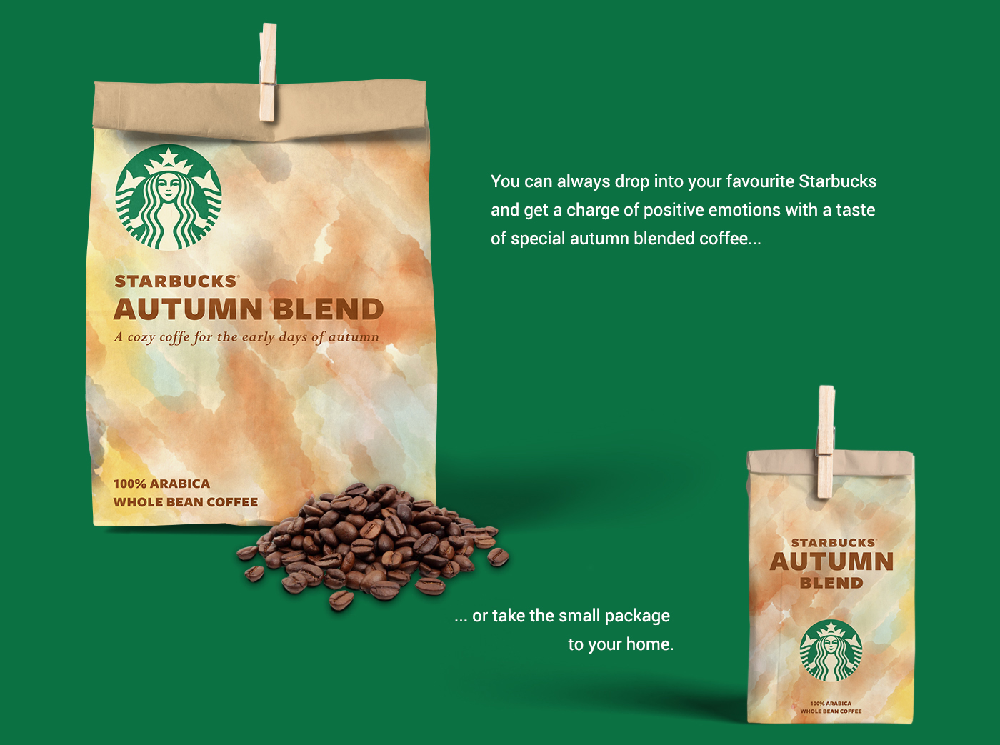 Concept for Natural Special Coffee Autumn Blend  / World Brand & Packaging Design Society