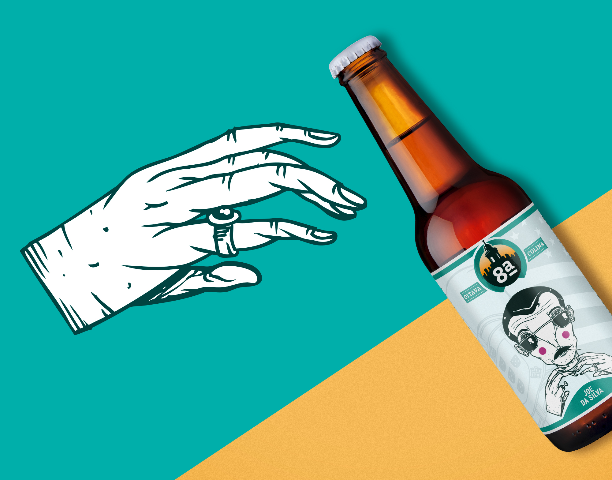 Packaging Design and Illustration for Micro-Brewery from a Lisbon Neighbourhood Craft Beer / World Brand & Packaging Design Society
