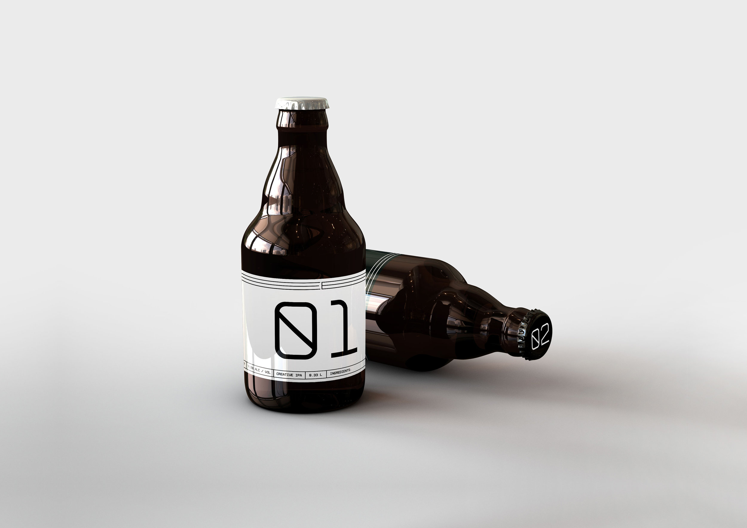Student Promotional Minimal Beer Branding and Packaging Design / World Brand & Packaging Design Society