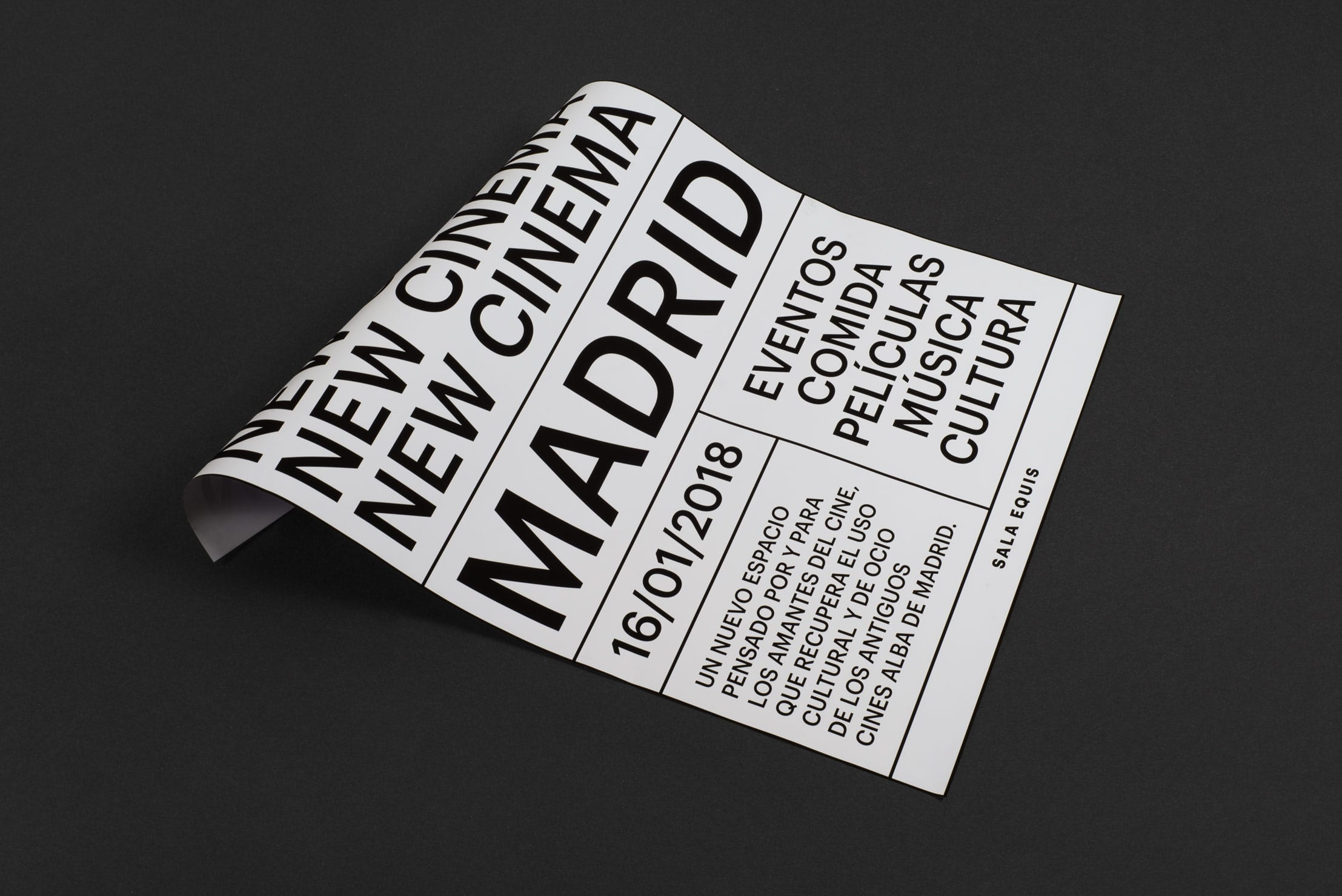 New Visual Identity for a New Cinema in Madrid / World Brand & Packaging Design Society