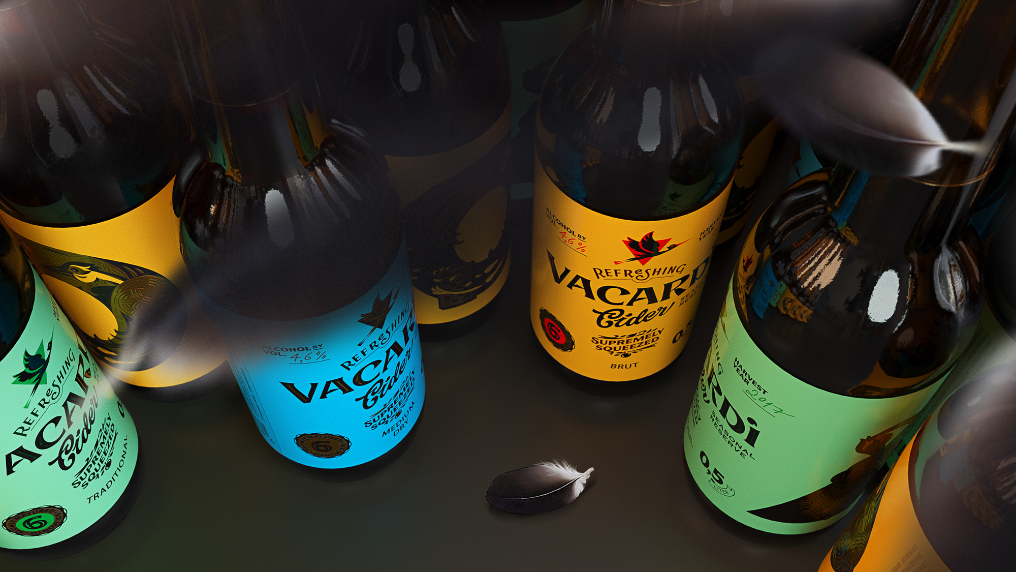 Brand Redesign and Packaging Design for Vacardi Cider / World Brand & Packaging Design Society