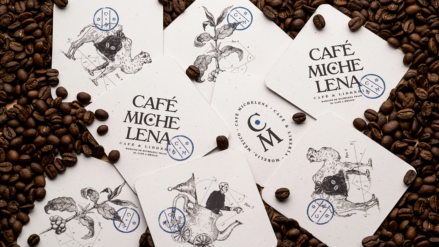 Branding and Packaging Design for Bookstore-Coffeeshop in downtown Morelia, Mexico / World Brand & packaging Design Society