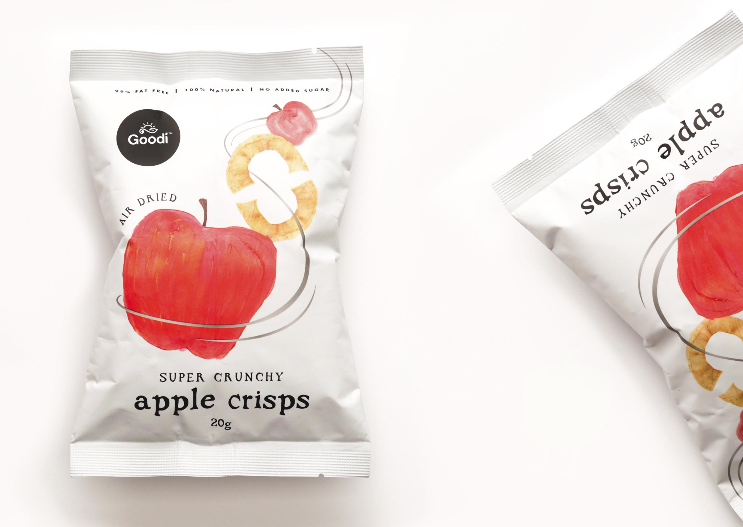 Brand Creation for Apple Crisps Healthy Snacks / World Brand & Packaging Design Society