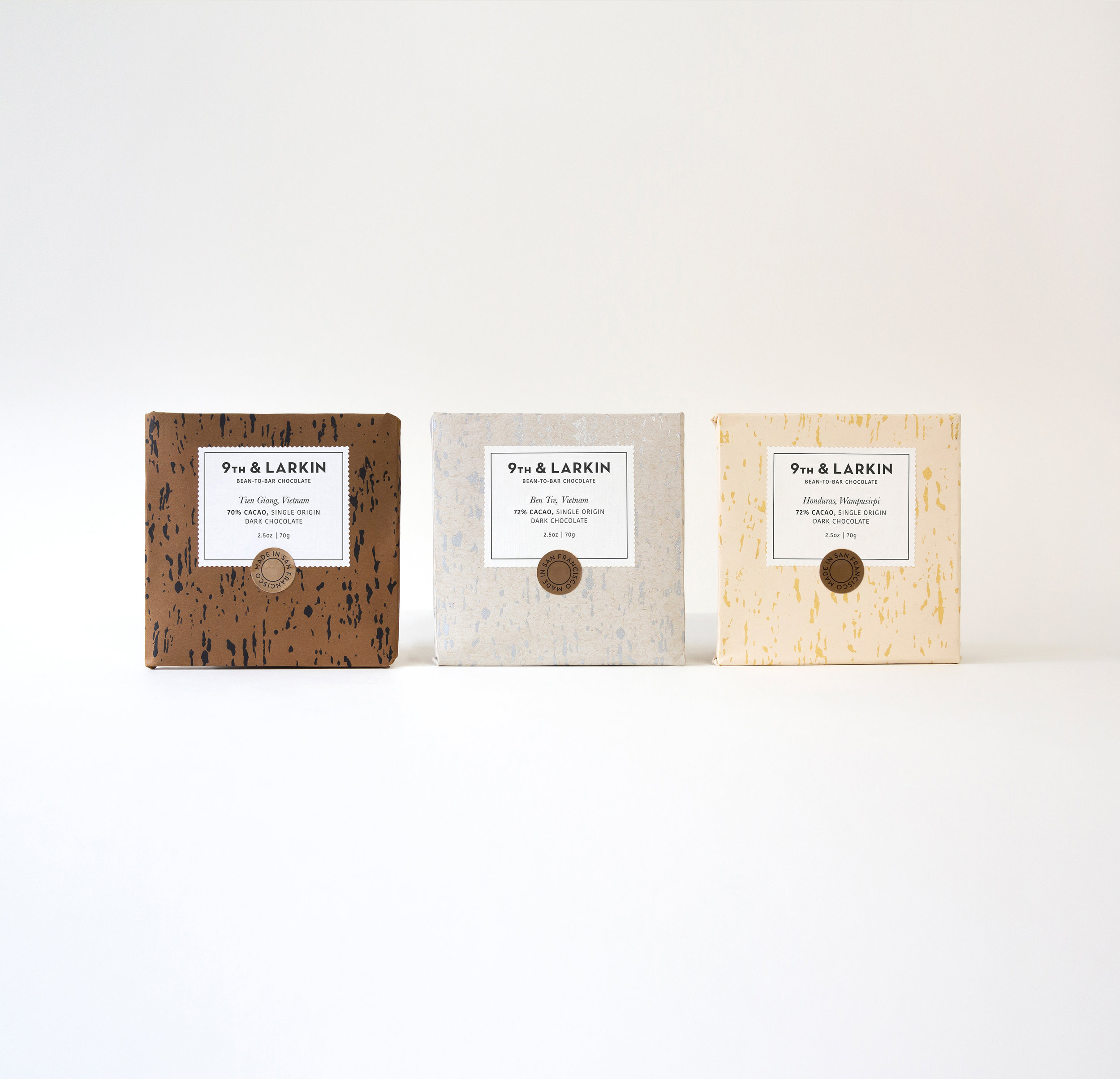 Crafted Natural Textures Printed Packaging Design for Chocolate / World Brand & Packaging Design Society