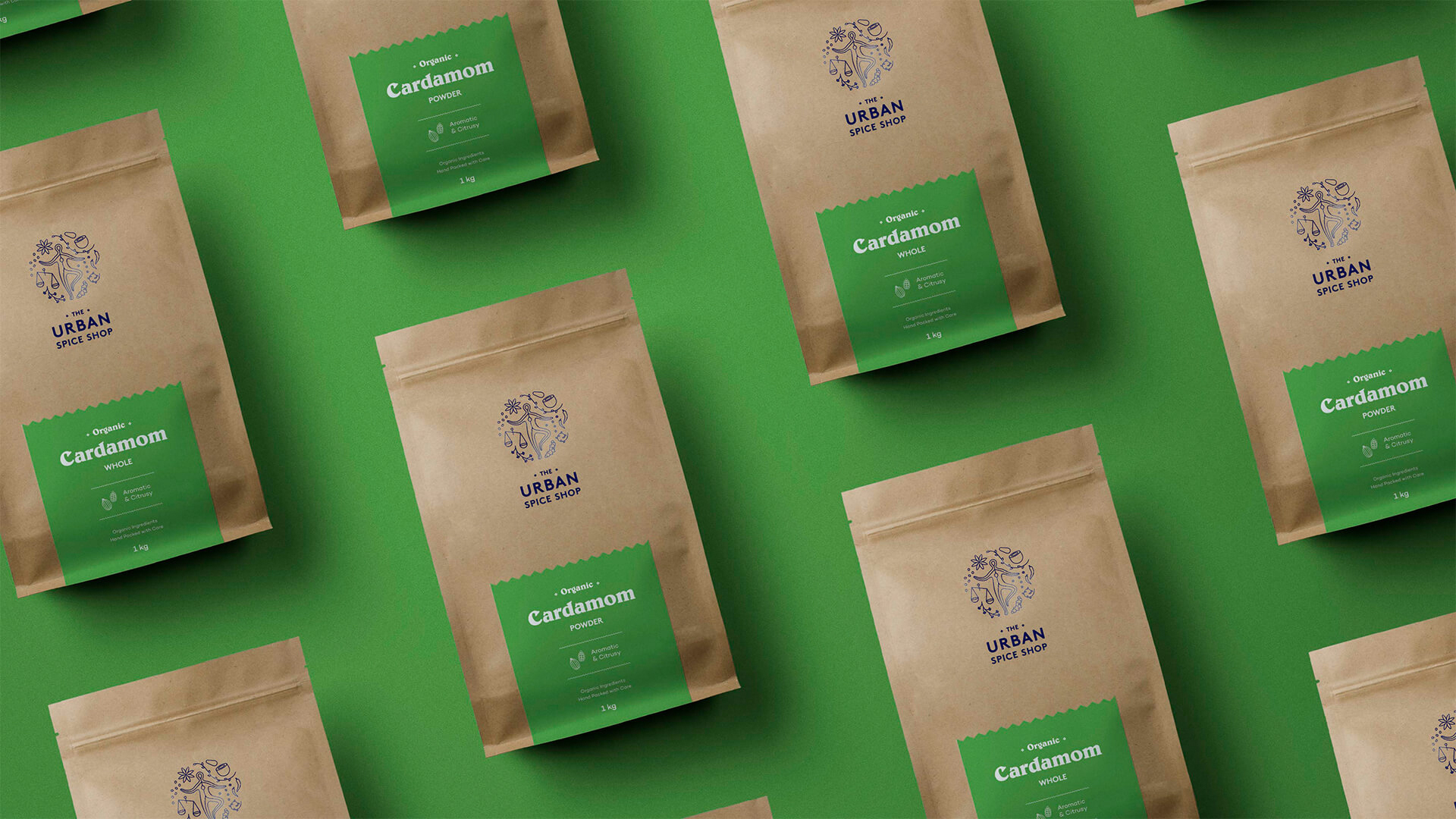 Brand Identity and Packaging Design for The Urban Spice Shop / World Brand & Packaging design Society