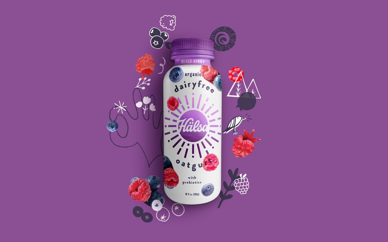 Branding and Packaging for Dairy Free Oatgurt / World Brand & Packaging Design Society