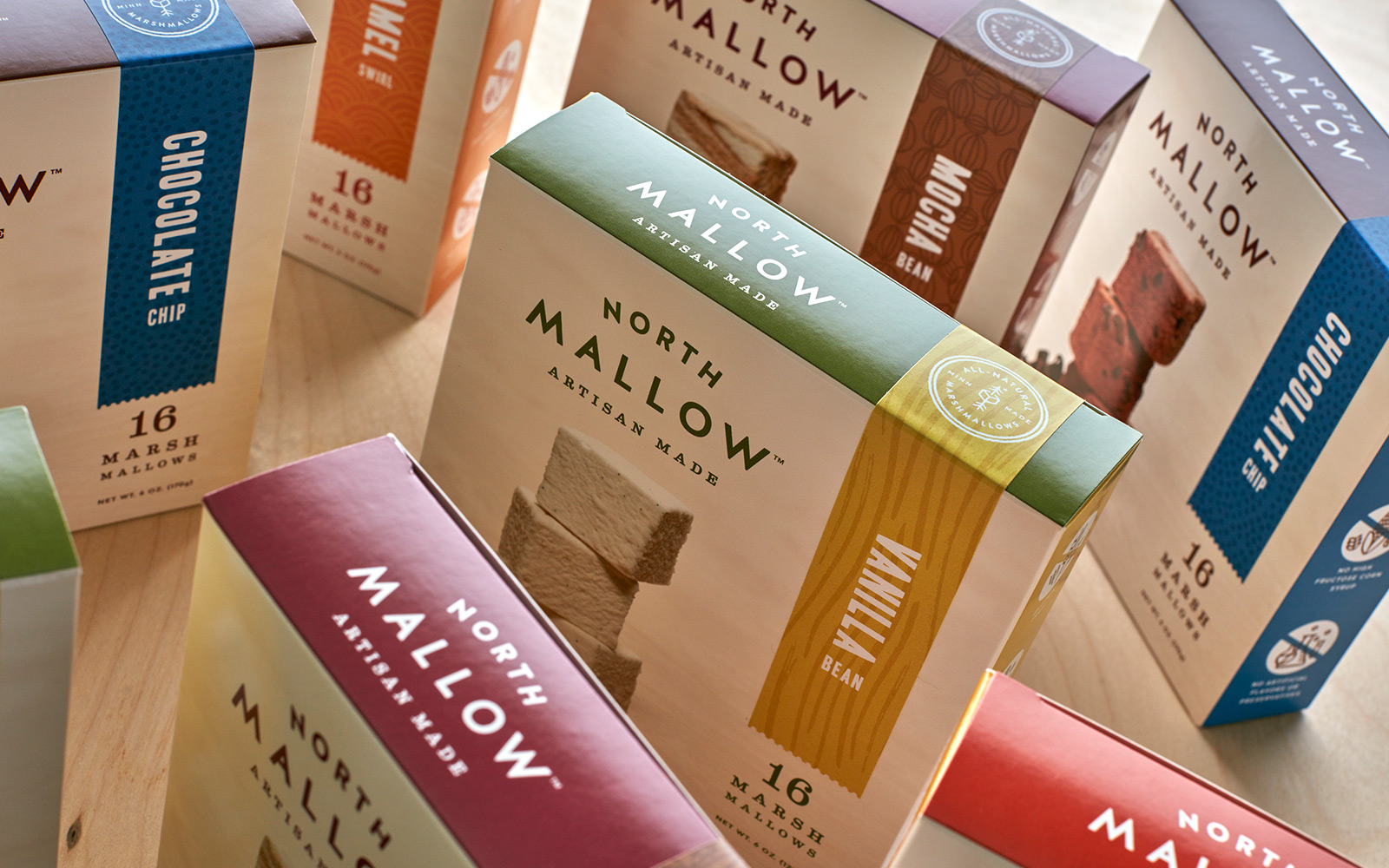 Branding and Packaging for Gourmet Marshmallows / World Brand & Packaging Design Society
