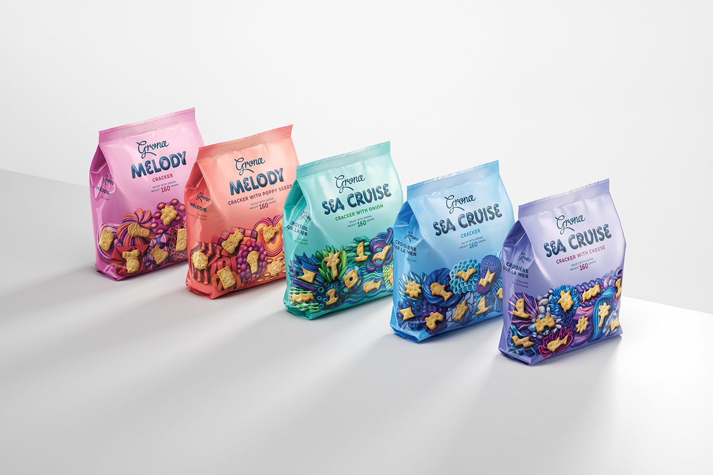 Global Concept for Savory Snack Crackers Product Range / World Brand & Packaging Design Society