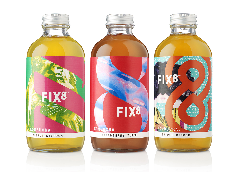 Celebrating the Power of Positive Addiction in New Brand Creation for Kombucha Start-Up / World Brand & Packaging Design Society