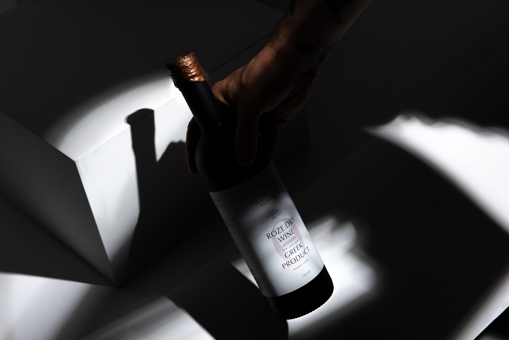 Wine Label Design for a Winery from the Birth Place of the Ancient Greek Hero Theseus / World Brand & Packaging Design Society
