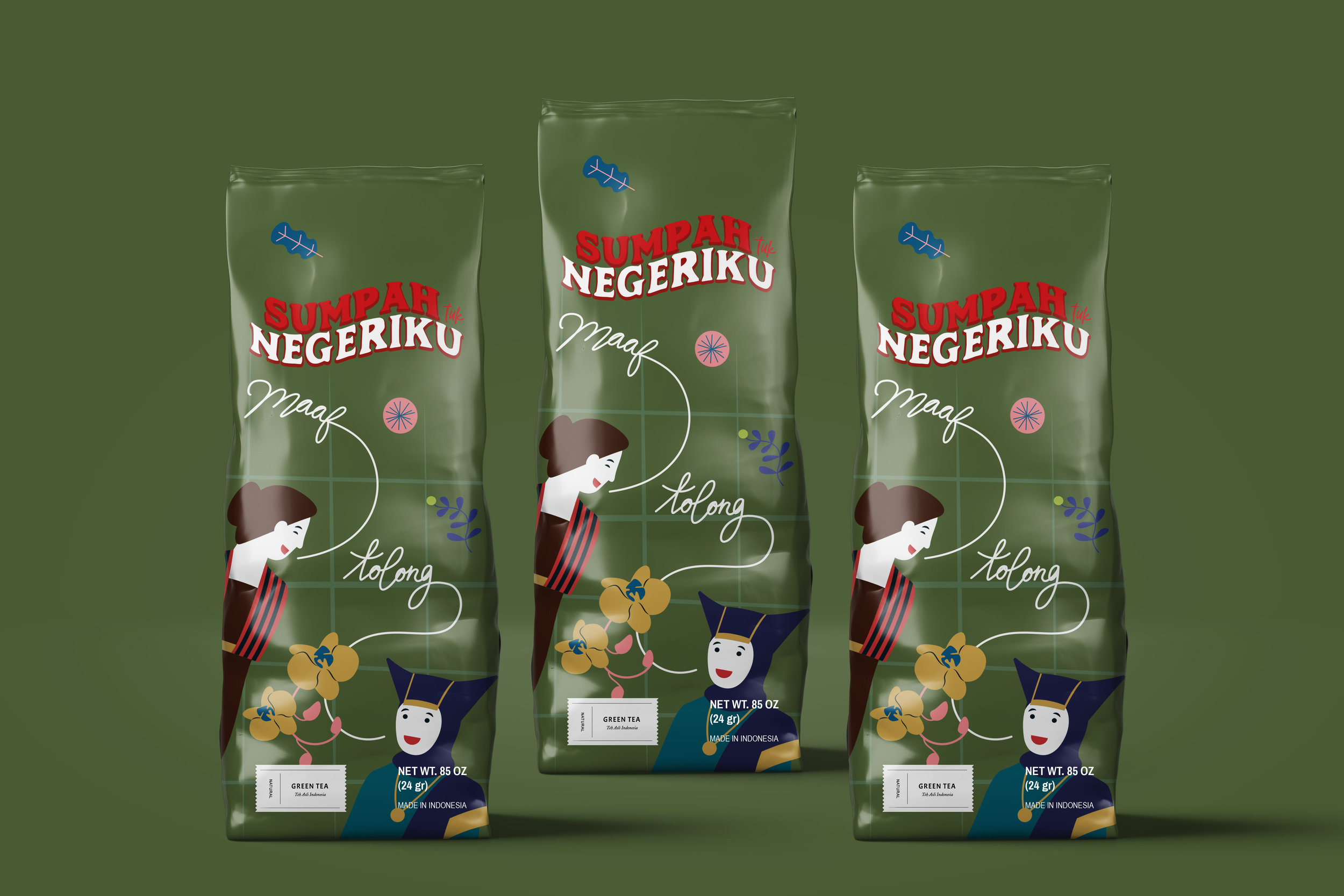 Sumpah Tuk Negeriku (The Youth Pledge) The Authentic Indonesia Tea Packaging Design / World Brand & Packaging Design Society