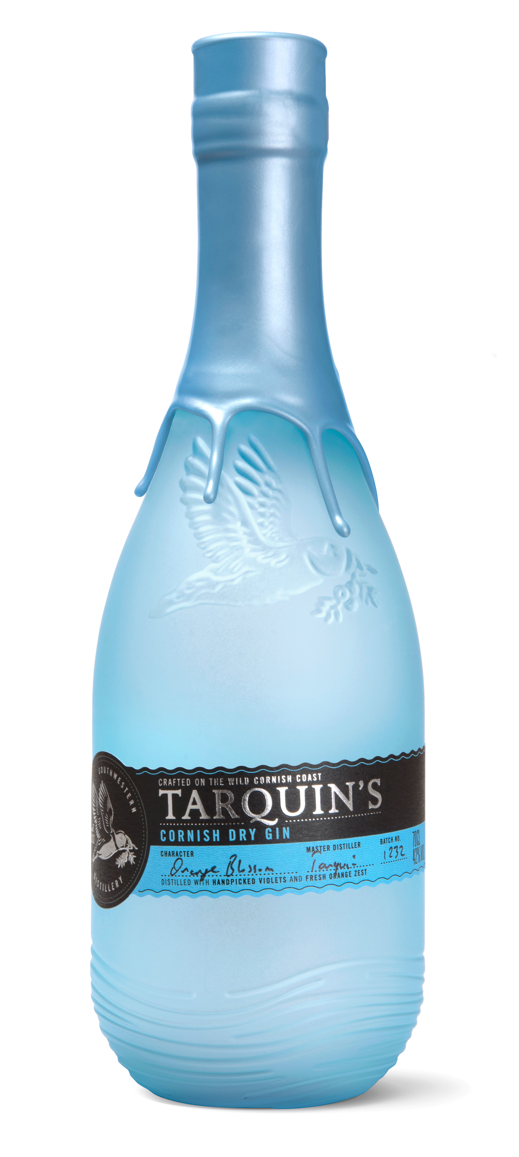 New 'Sea-Glass' Bottle Design for Tarquin's Cornish Gin by Buddy / World Brand & Packaging Design Society