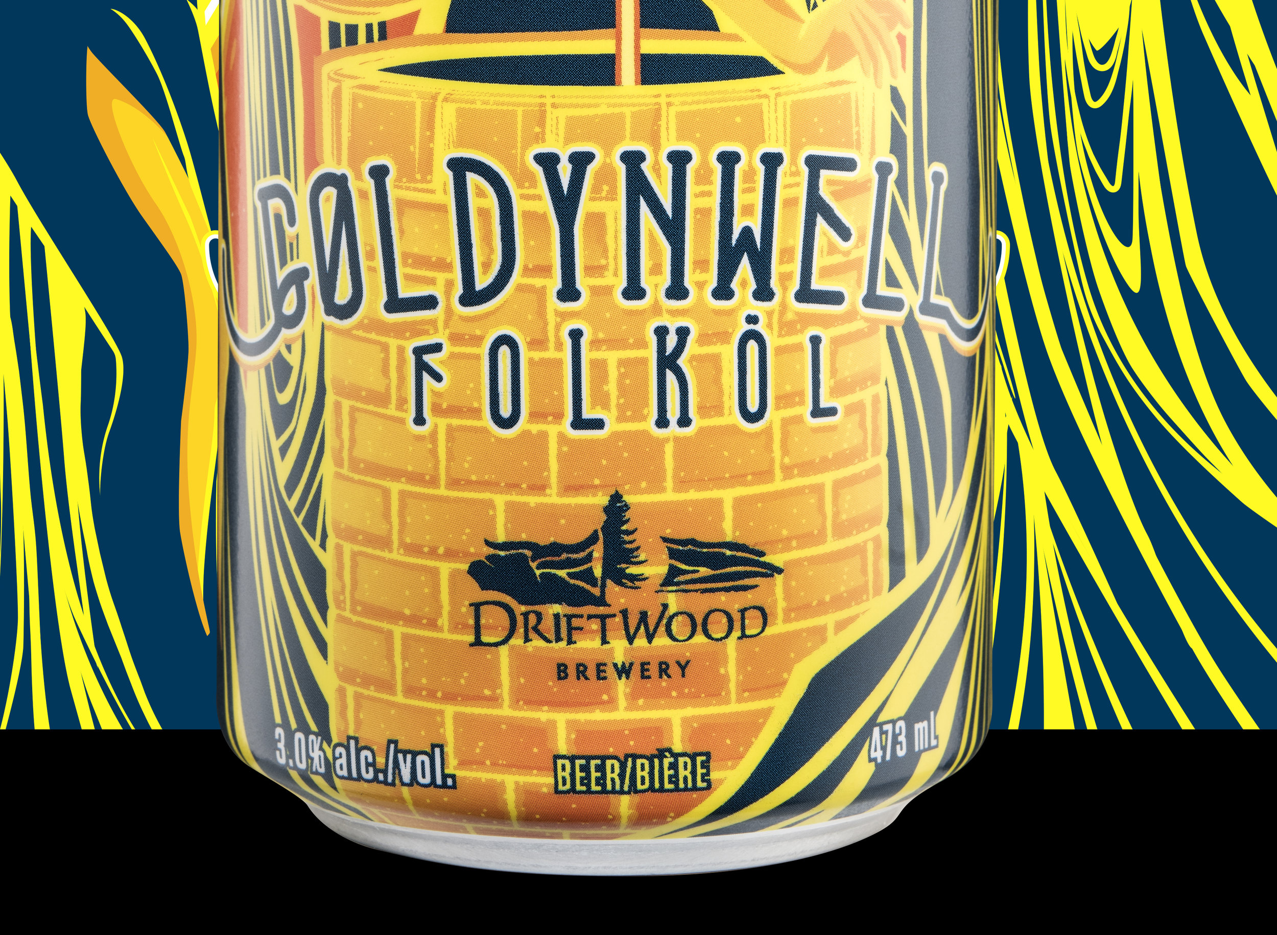 Driftwood Brewery's New Goldynwell Folköl Design / World Brand & Packaging Design Society