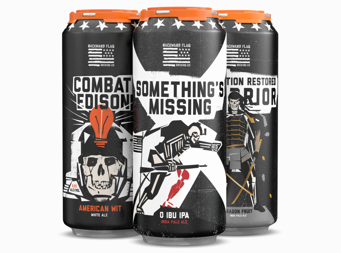 Backward Flag Brewing Special Beers to Help Veterans Across the United States / World Brand & Packaging Design Society