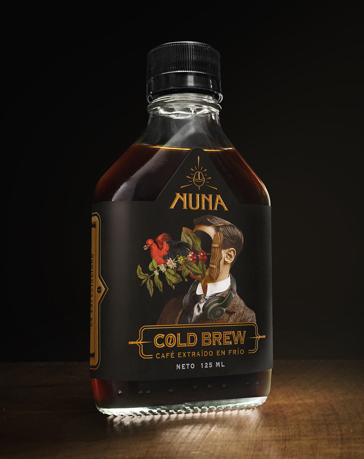 """NUNA"" Cold Brew Coffee Label Concept Design and Illustration / World Brand & Packaging Design Society"