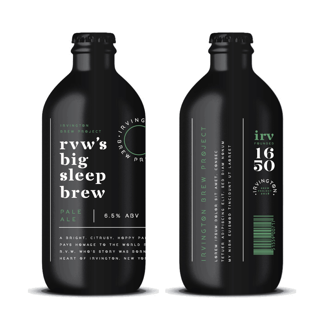 Packaging Concept for The Irvington Brew Project From The USA / World Brand and Packaging Design Society