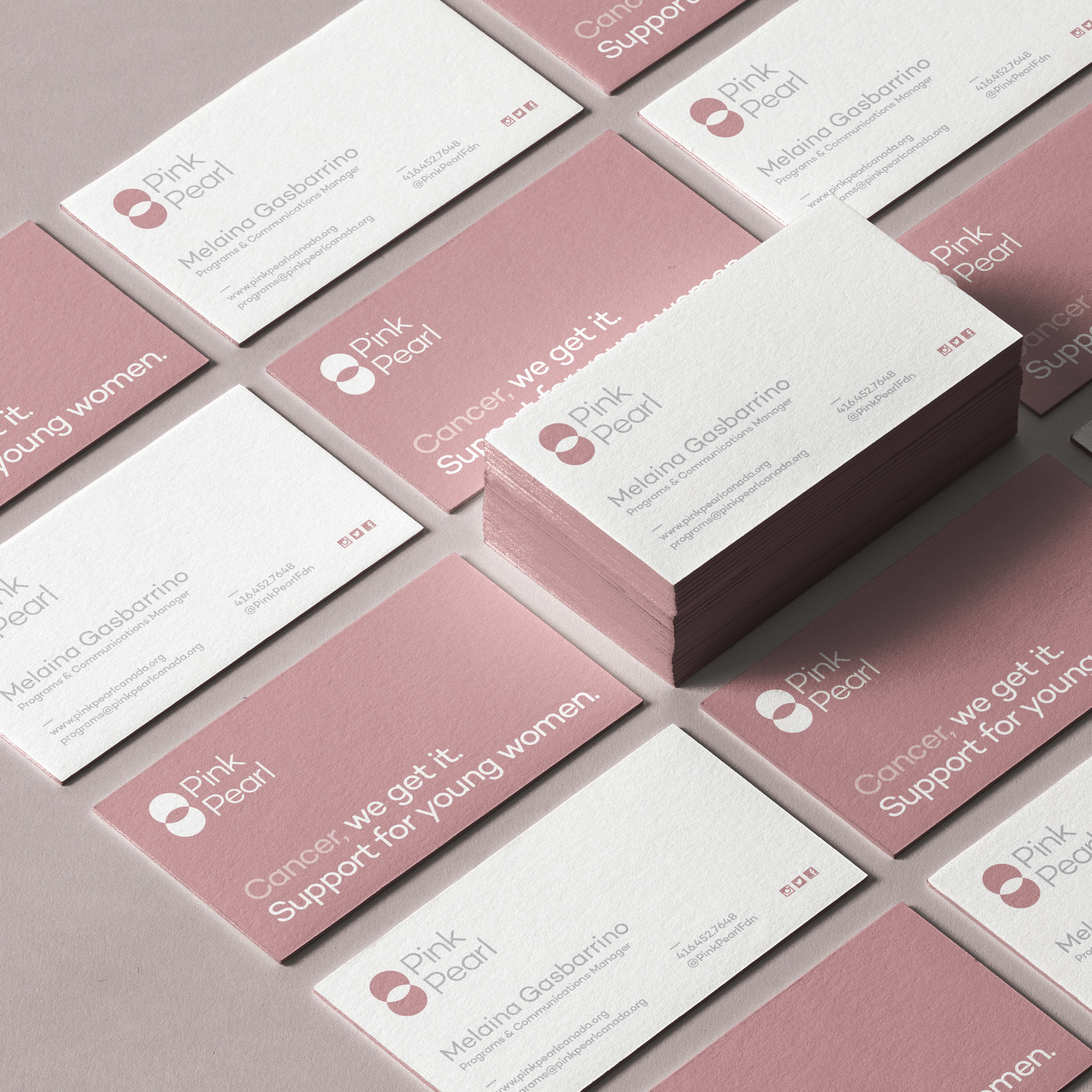 Brand Identity Pink Pearl Charity Re-Brand / World Brand and Packaging Design Society