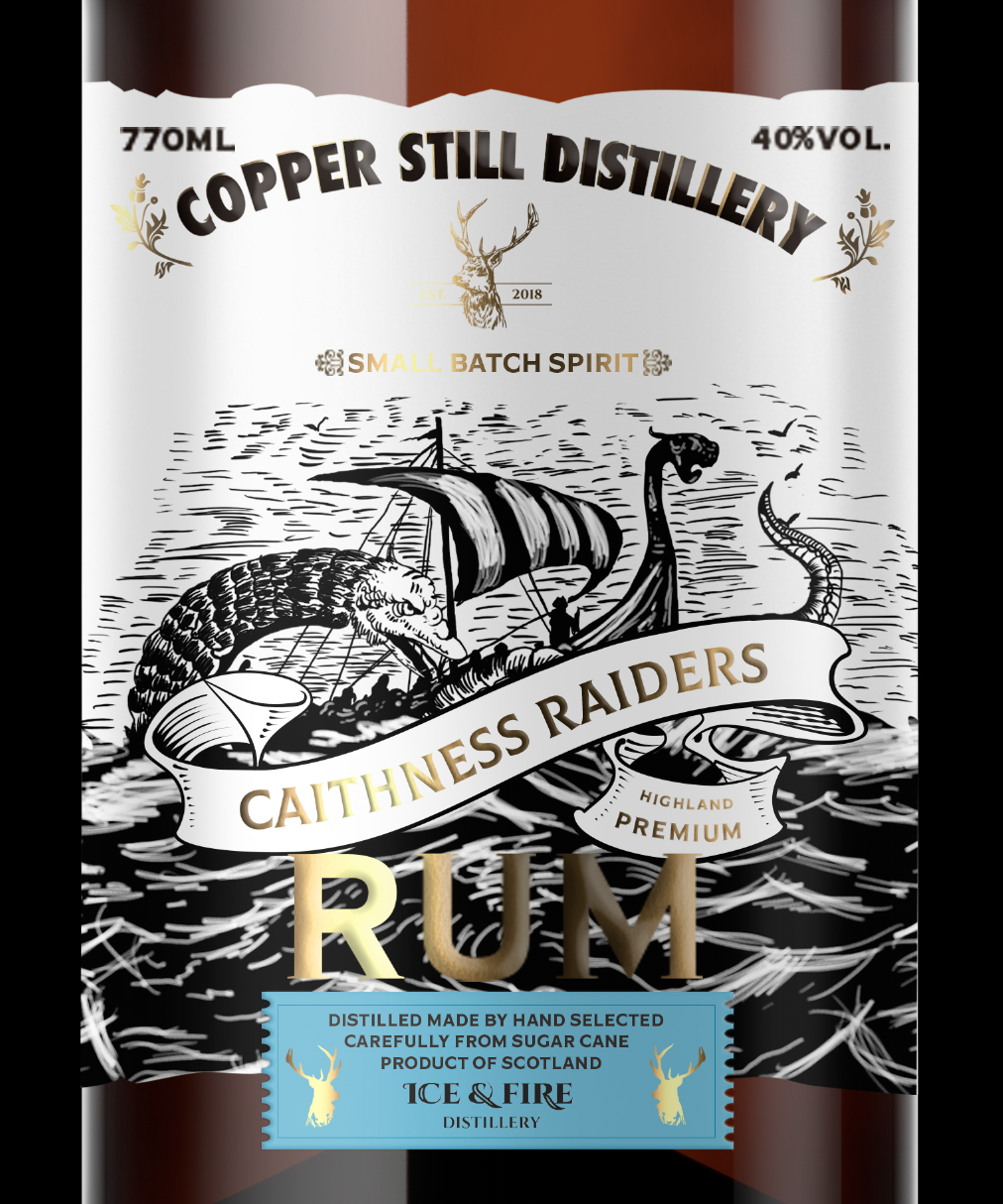 Caithness Raiders Rum Packaging Design, Born from the Heart of the Sea / World Brand and Packaging Design Society