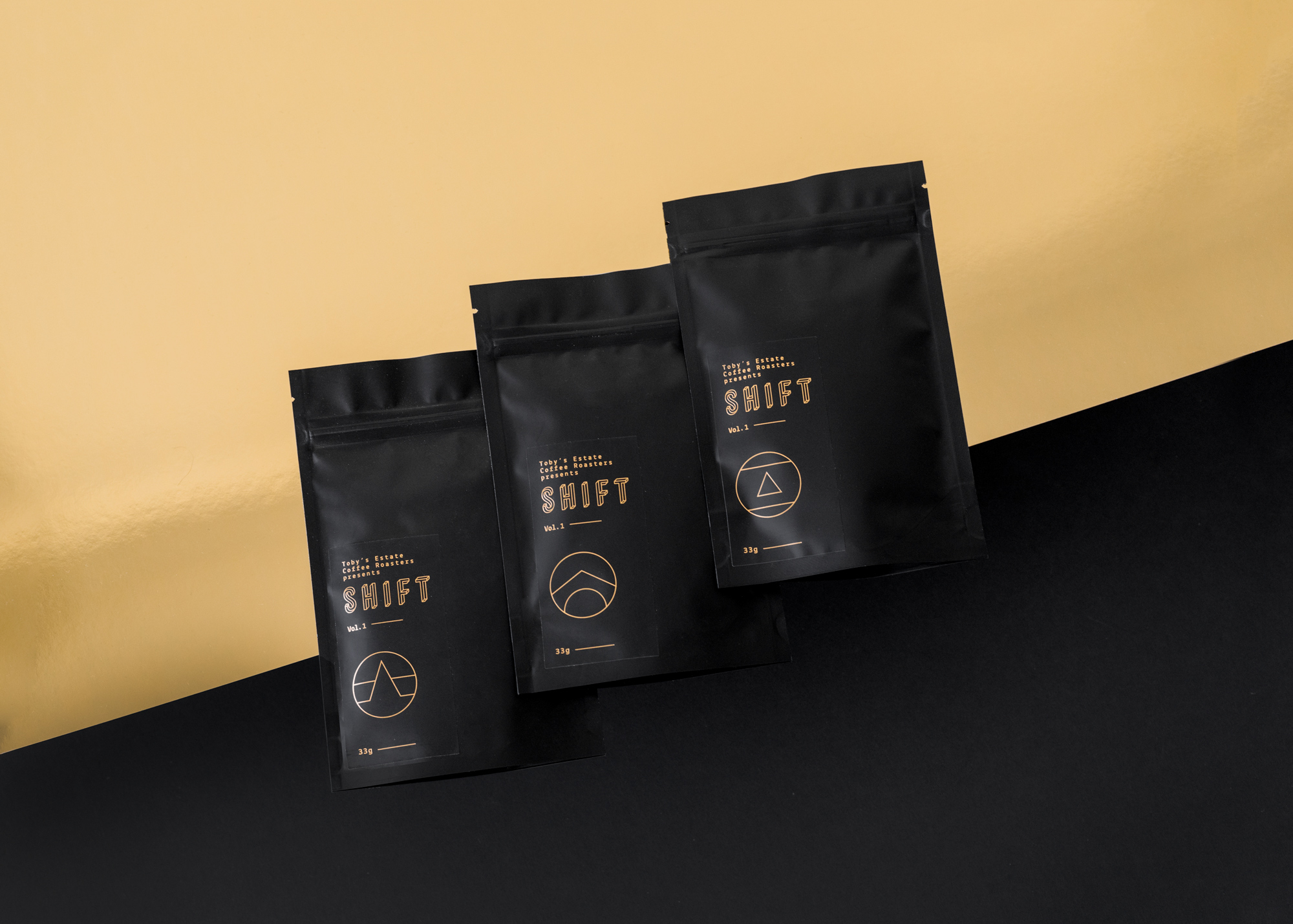 Packaging for Shift Coffee by Toby's Estate Cofee Roasters / World Brand and Packaging Design Society
