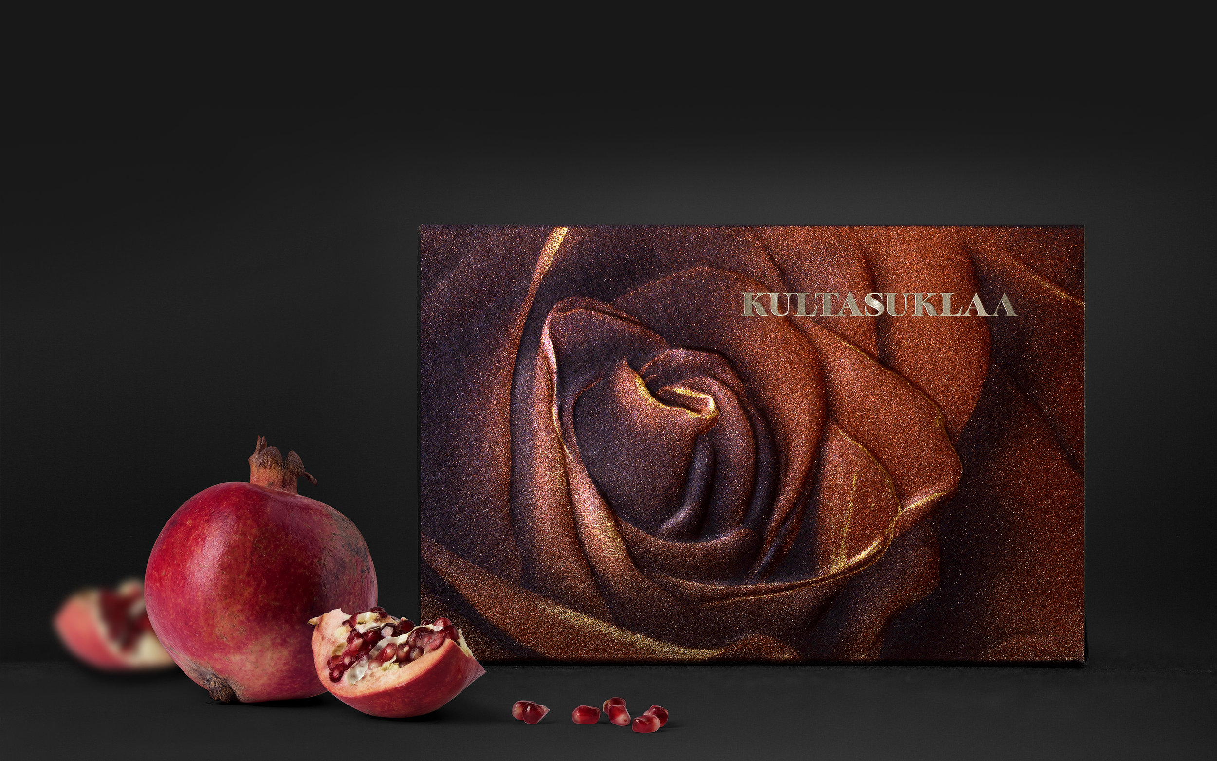 Kultasuklaa Rose Chocolate Packaging, a New Way of Printing Packages with Pigment Colors / World Brand Design Society