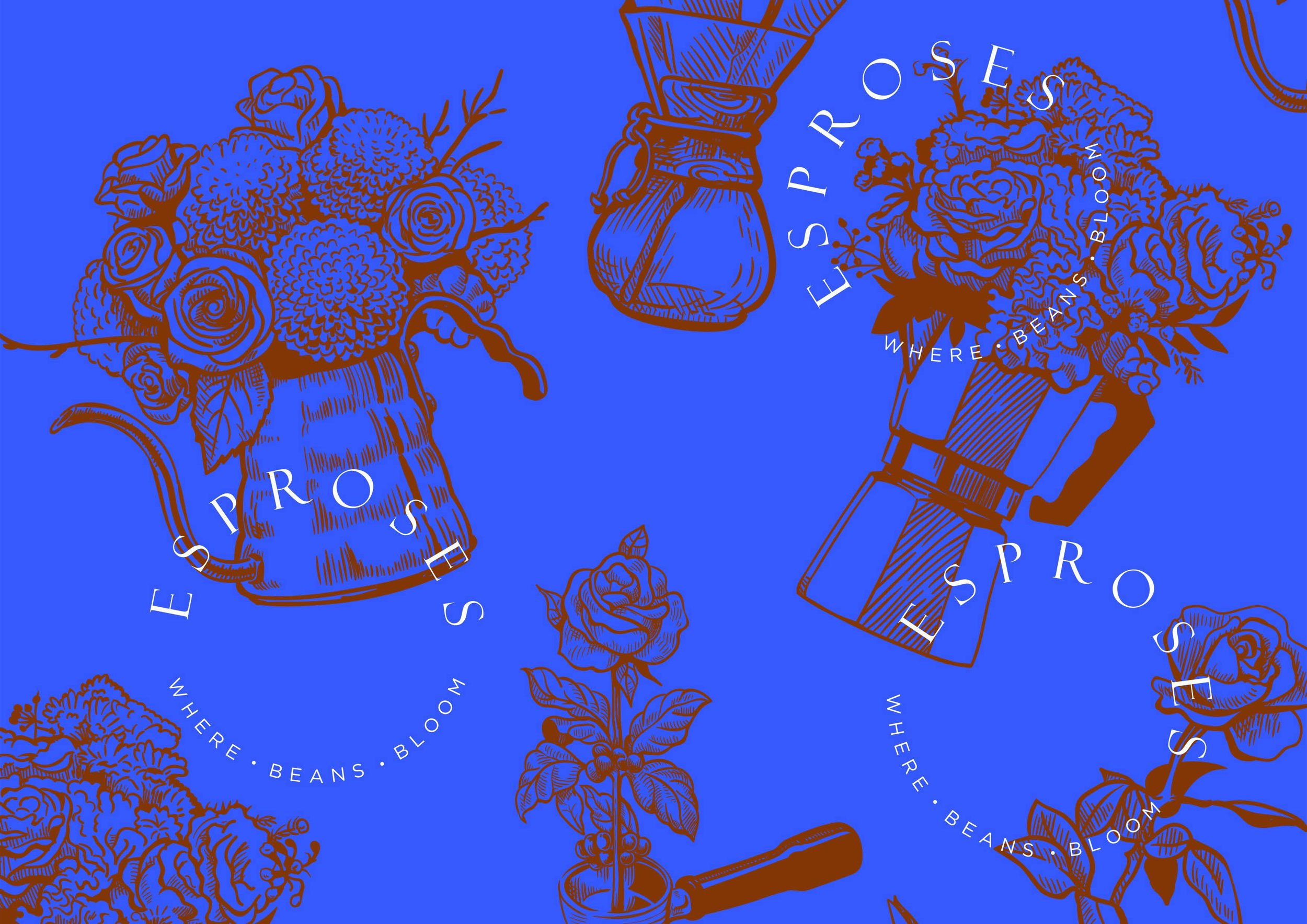 Logo and Brand Design for Hand Crafted Coffee and Flower Shop / World Brand Design Society
