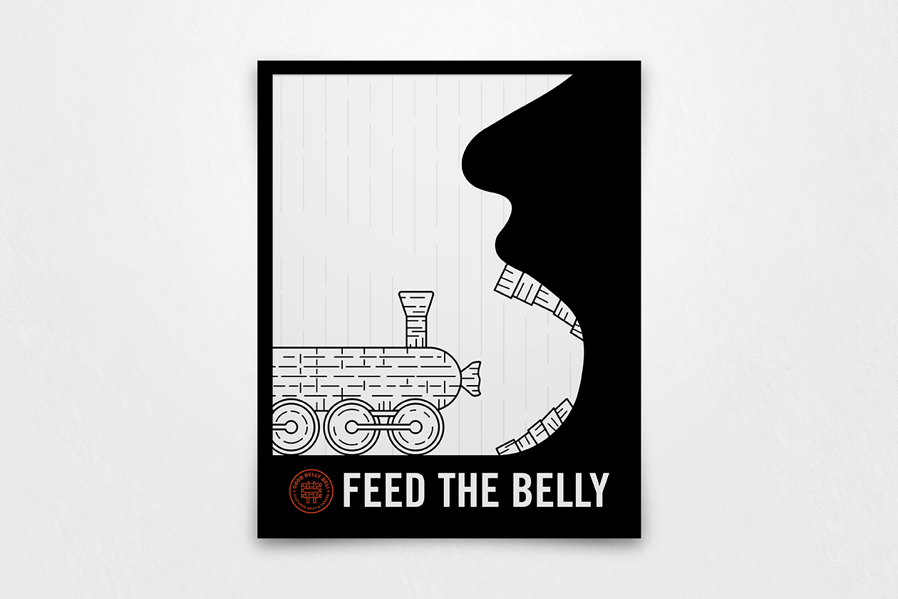 Good Belly Deli Identity and Collateral items / World Brand Design Society
